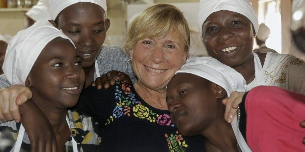 Lauri in Rwanda during one of her charity works