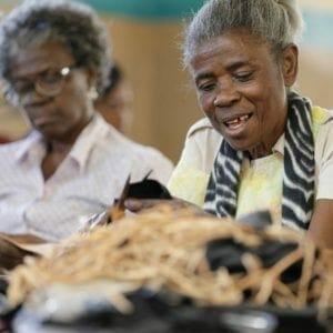 2 older women working