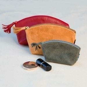 Nina Leather Pouch 3 pouches sm med lg