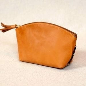 Nina Leather Pouch Gold leather pouch