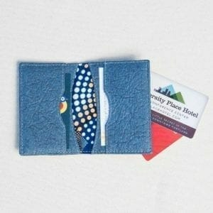 Open pinatex gray cardholder