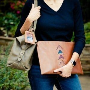 Woman holding portfolio 2