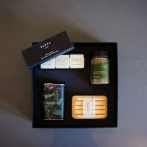 gift box w open soap box