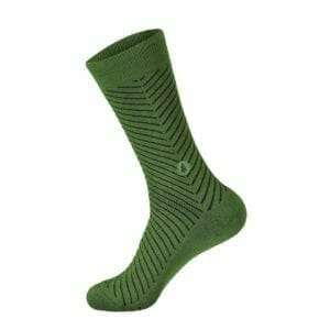 green and blue tree sock